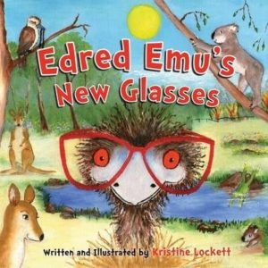 Cover of Edred Emus New Glasses by Kristine Lockett for Green Olive Press