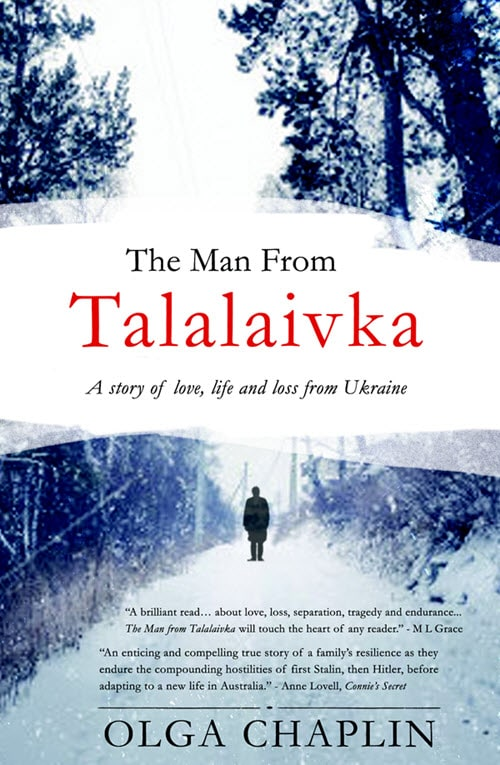 Cover of The Man From Talalaivka by Olga Chapman for Green Olive Press