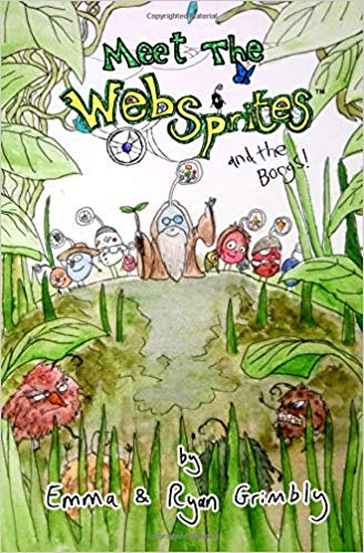 Cover of Meet the Websprites by Ryan and Emma Grimbly