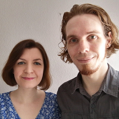 Photo of Ryan and Emma Grimbly, Green Olive Press authors